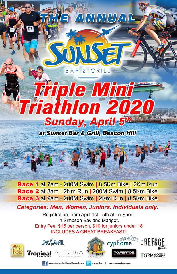 The Sunset Triple Mini Triathlon