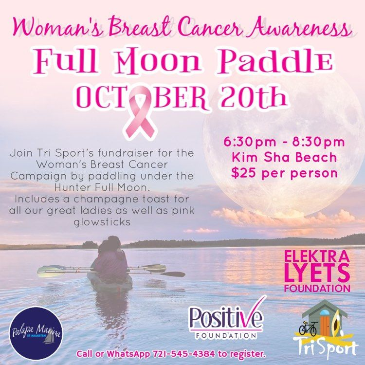 Breast Cancer Awareness Full Moon Paddle