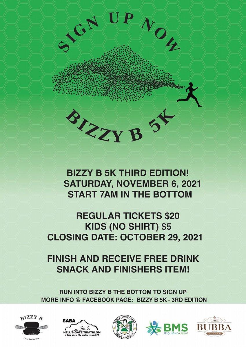 Bzzy B 5K Run in Saba